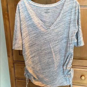 Lane Bryant vneck shirt with drawstring ruching